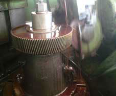 Profile grinding of Gear for Bevel Helical Gearbox