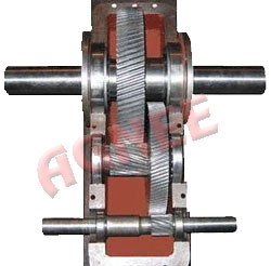 Internal parts of Pump Jack Helical Gearbox