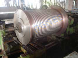 Turning of Cable Drum of 100 ton Capacity Hoist